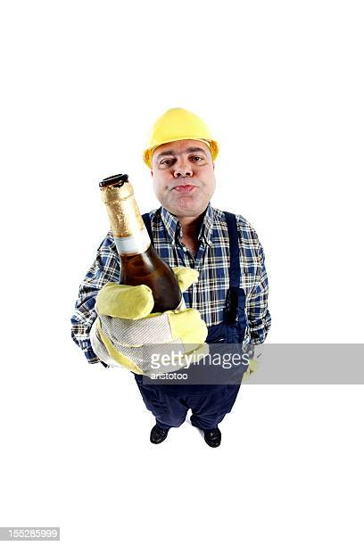 Manual Worker Having an After Work Beer