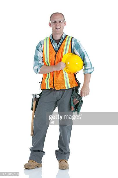 Manual worker smiling
