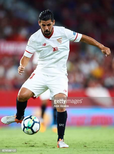 Manuel Agudo 'Nolito' of Sevilla FC in action during a Pre Season Friendly match between Sevilla FC and AS Roma at Estadio Ramon Sanchez Pizjuan on...