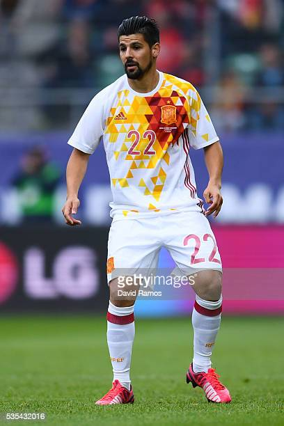 Manuel Agudo 'Nolito' of Spain in action during an international friendly match between Spain and Bosnia at the AFG Arena on May 29 2016 in St Gallen...