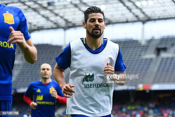 Manuel Agudo 'Nolito' of Spain leaves the pitch after the warm up before the kickoff during an international friendly match between Spain and Korea...