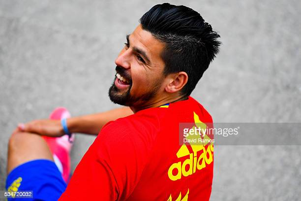 Manuel Agudo 'Nolito' of Spain looks on during a training session on May 27 2016 in Schruns Austria