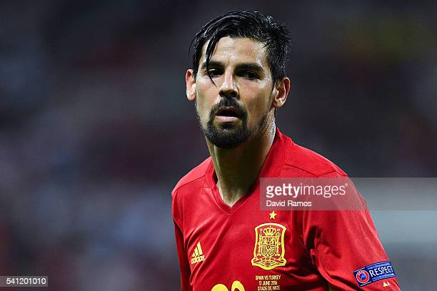 Manuel Agudo 'Nolito' of Spain looks on during the UEFA EURO 2016 Group D match between Spain and Turkey at Allianz Riviera Stadium on June 17 2016...