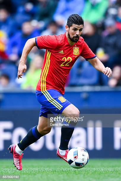 Manuel Agudo 'Nolito' of Spain runs with the ball during an international friendly match between Spain and Korea at the Red Bull Arena stadium on...