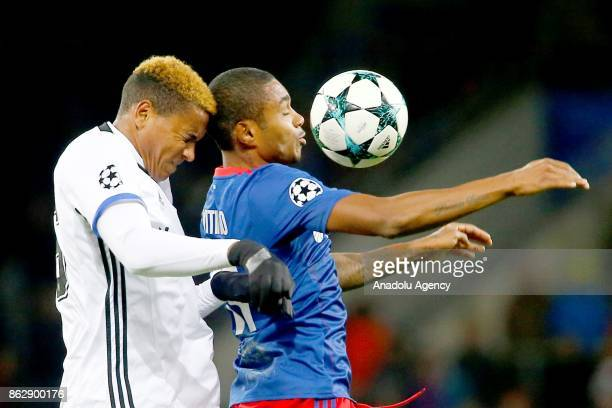 Manuel Akanji of Basel in action against Vitinho of CSKA Moscow during the UEFA Champions League Group A soccer match between CSKA Moscow and Basel...