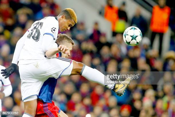 Manuel Akanji of Basel in action during the UEFA Champions League Group A soccer match between CSKA Moscow and Basel at VEB Arena in Moscow Russia on...