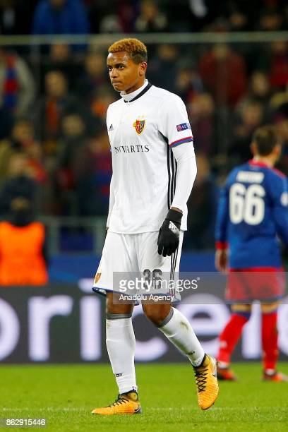Manuel Akanji of Basel is seen during the UEFA Champions League Group A soccer match between CSKA Moscow and Basel at VEB Arena in Moscow Russia on...