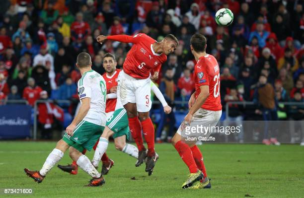 Manuel Akanji of Switzerland during the FIFA 2018 World Cup Qualifier PlayOff Second Leg between Switzerland and Northern Ireland at St JakobPark...