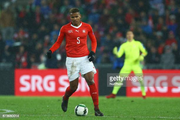 Manuel Akanji of Switzerland during the FIFA 2018 World Cup Qualifier PlayOff Second Leg between Switzerland and Northern Ireland at St JakobPark on...