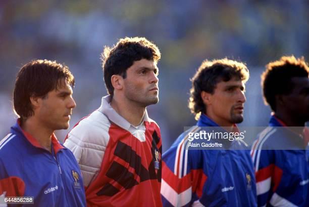 Manuel Amoros / Bruno Martini / Bernard Casoni Suede / France Euro 1992 Photo Alain Gadoffre / Icon Sport