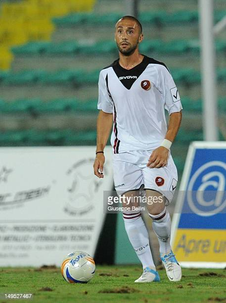 Manuel Angelilli of Reggina in action durng the match between Reggina Calcio and US Ancona a pre season friendly match between Reggina Calcio and US...