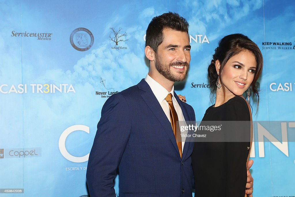 Manuel Balbi and Eiza González attend 'Casi Treinta' Mexico City premiere red carpet at Cinemex Antara Polanco on August 19 2014 in Mexico City Mexico