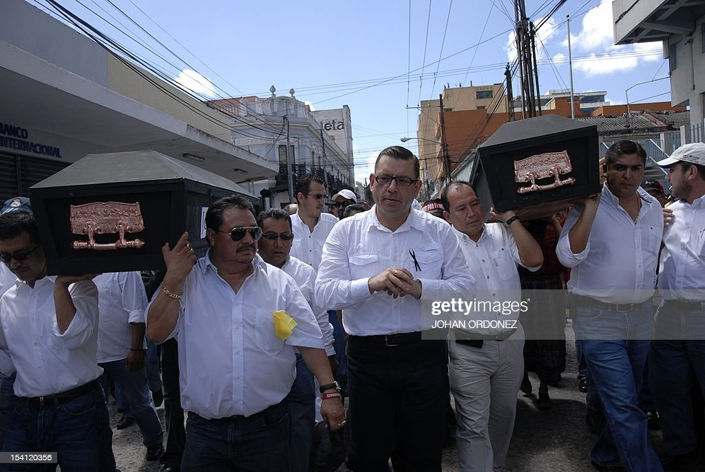 Manuel Baldizon SecretaryGeneral for the Renewed Democratic Liberty party takes part in the 'Life and dignity' march in Guatemala City on October 14...