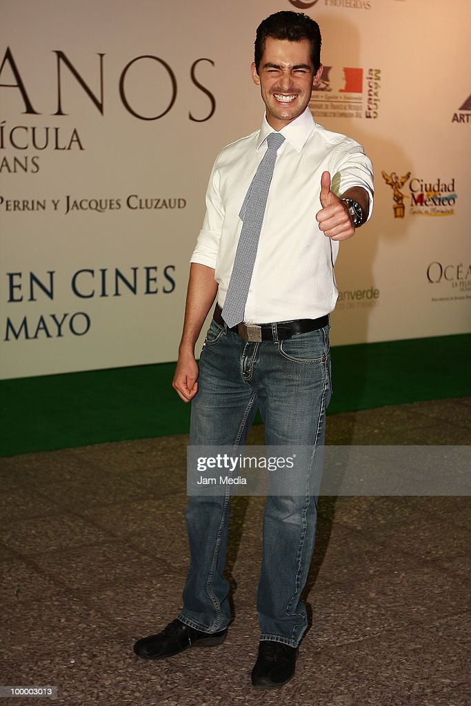 Manuel Balmis poses for a photograph at the green carpet of the movie ?Oceanos? at the National Auditorium on May 19, 2010 in Mexico City, Mexico.