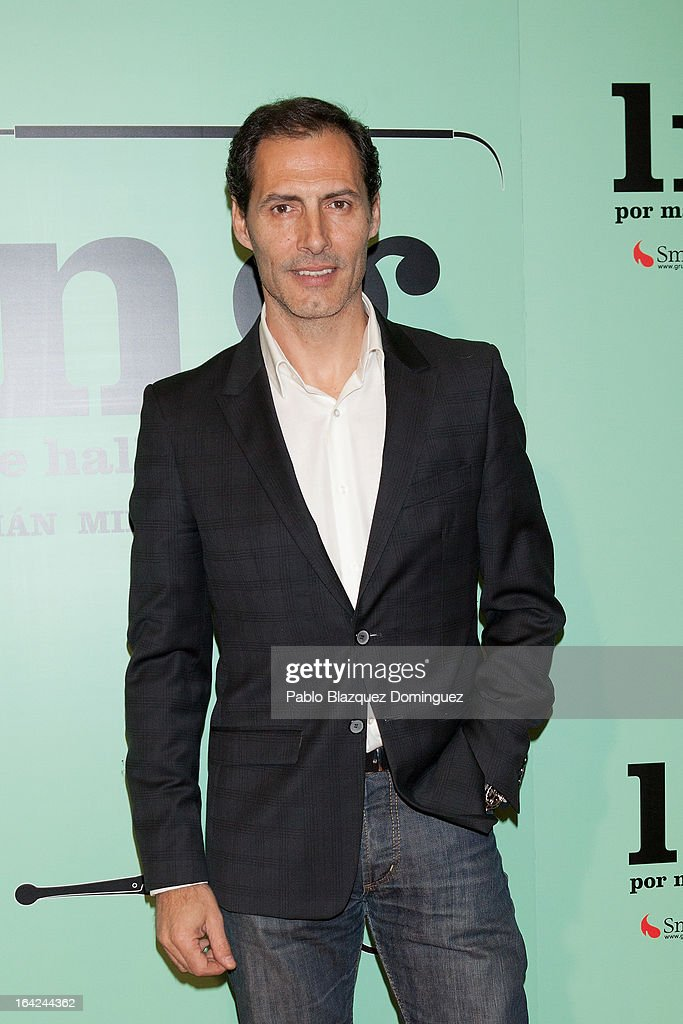 Manuel Bandera attends the 'Lifting' premiere at Infanta Isabel Theatre on March 21, 2013 in Madrid, Spain.