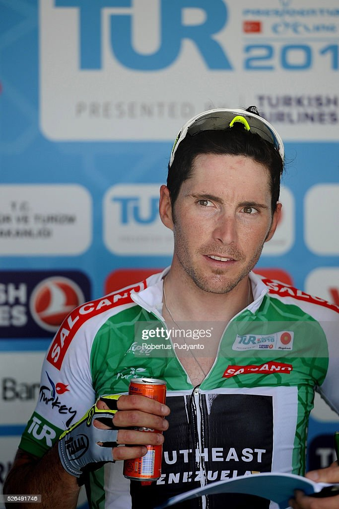 Manuel Belletti of Southeast-Venezuela drinks after taking runner-up position during Stage 7 of the 2016 Tour of Turkey, Fethiye to Marmaris (128.5 km) on April 30, 2016 in Fethiye, Turkey.