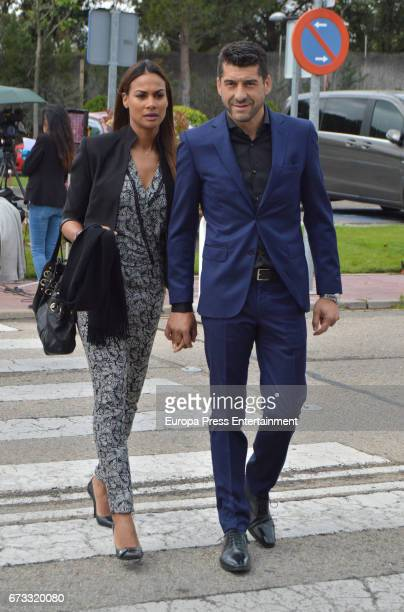 Manuel Caballero and Carlota attend the funeral chapel for the bullfighter Sebastian Palomo Linares on April 25 2017 in Madrid Spain