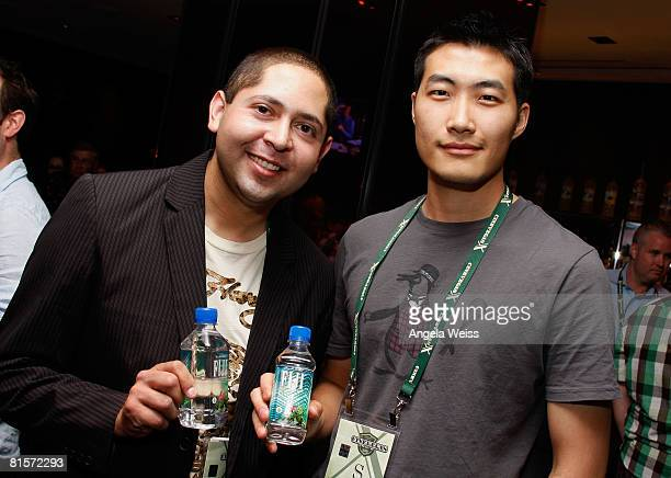 Manuel Cabral and Clarence Chia of Fiji water during the 2008 CineVegas film festival held at the Palms Casino Resort on June 14 2008 in Las Vegas...
