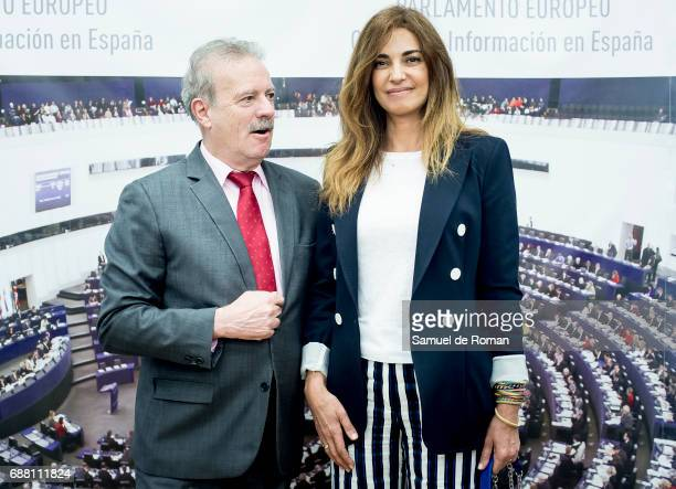 Manuel Campo Vidal and Marilo Montero during European Audivisual Directive Presentation on May 25 2017 in Madrid Spain