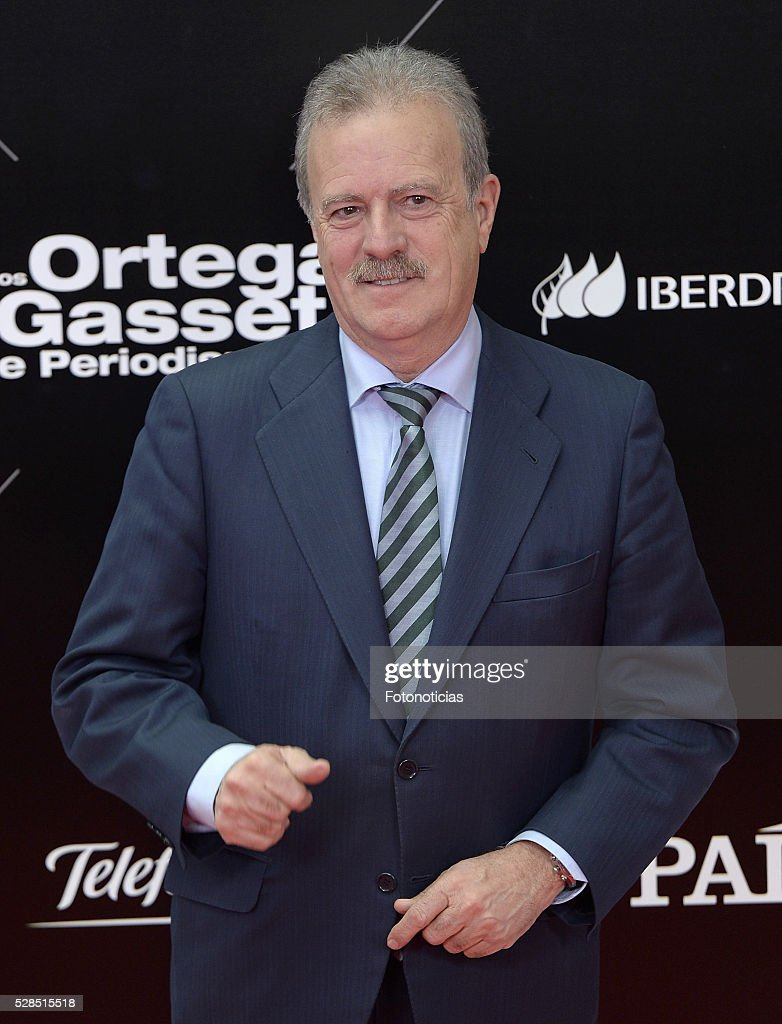 Manuel Campo Vidal attends the El Pais 40th anniversary dinner and 'Ortega y Gasset' awards ceremony at the Palacio de Cibeles on May 5, 2016 in Madrid, Spain.