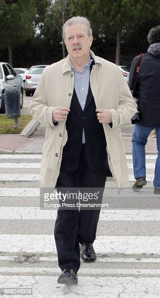 Manuel Campo Vidal attends the funeral chapel for Paloma Gomez Borrero on March 25 2017 in Madrid Spain