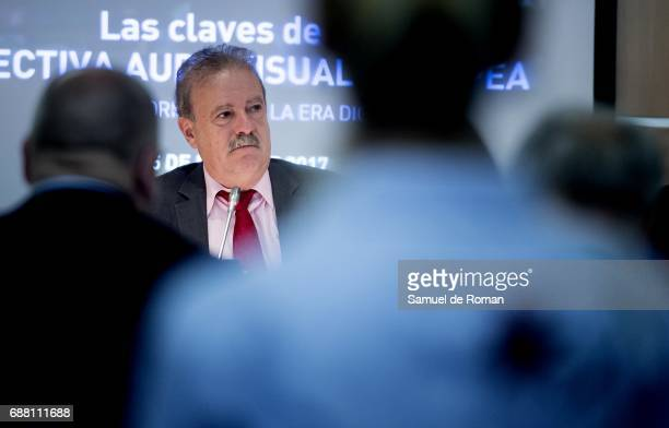 Manuel Campo Vidal during European Audivisual Directive Presentation on May 25 2017 in Madrid Spain