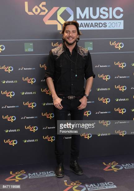 Manuel Carrasco attends the 40 Principales Awards Nominated Dinner at the Florida Retiro on September 14 2017 in Madrid Spain