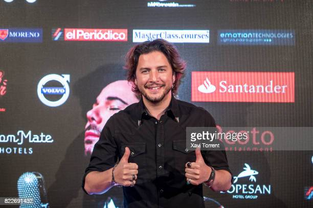 Manuel Carrasco attends the photocall of the 'Miguel Poveda Amigos' Gala at Gran Teatre del Liceu on July 25 2017 in Barcelona Spain