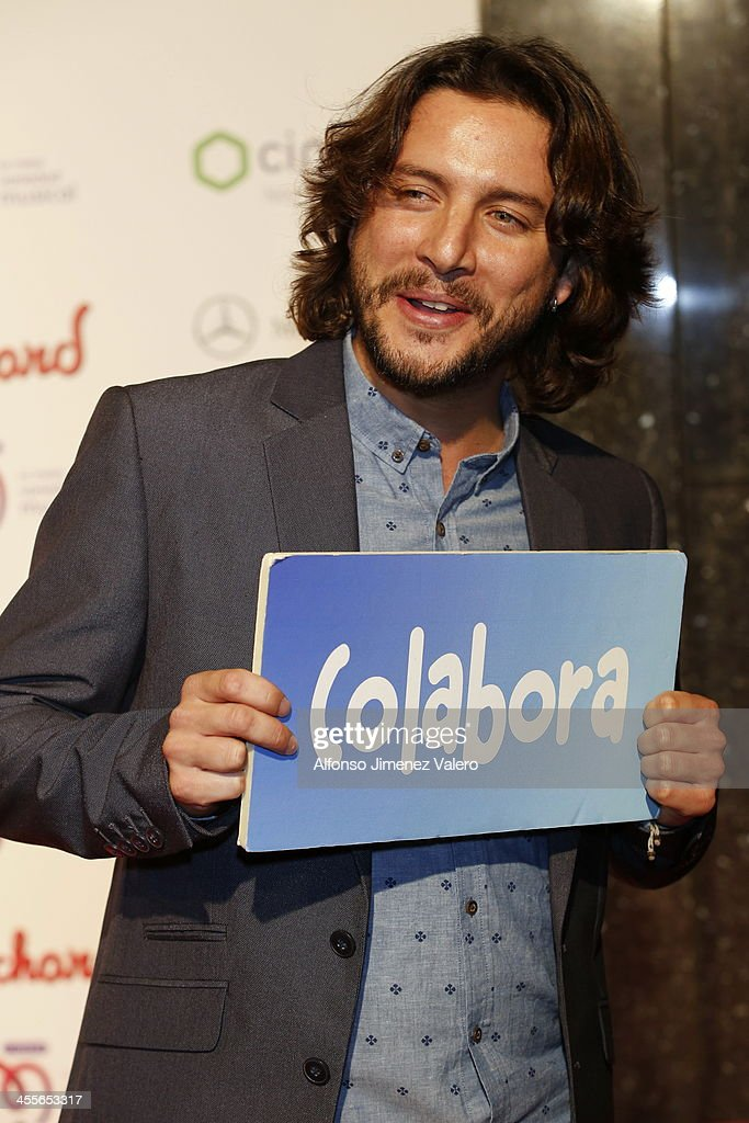 Manuel Carrasco attends the 'Pie Derecho' Music Awards 2013 at Callao cinema on December 12, 2013 in Madrid, Spain.