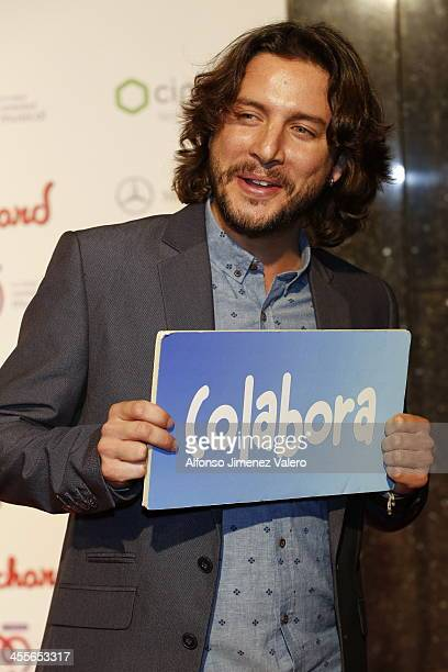 Manuel Carrasco attends the 'Pie Derecho' Music Awards 2013 at Callao cinema on December 12 2013 in Madrid Spain