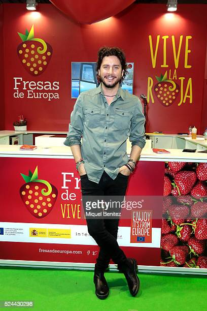 Manuel Carrasco attends the presentation of 'Vive la Roja' 'Fresas de Europa' 'Live The Red' 'Strawberries of Europe' at the Alimentaria Fair on...