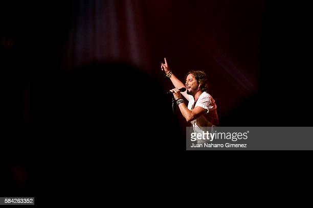 Manuel Carrasco performs on stage at Royal Theater July 28 2016 in Madrid Spain