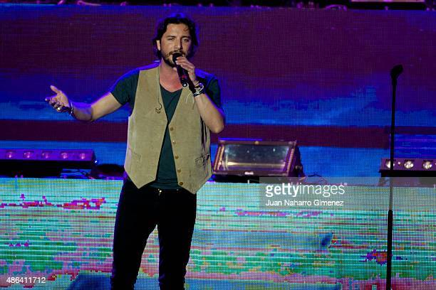 Manuel Carrasco performs on stage during 'Cadena Dial' 25th Anniversary concert at Barclaycard Center on September 3 2015 in Madrid Spain