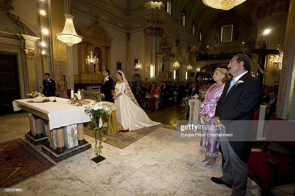 Manuel Colonques, son of the president of Porcelanosa company, and Cristina Babiloni get married on June 11, 2010 in Castellon de la Plana, Spain.
