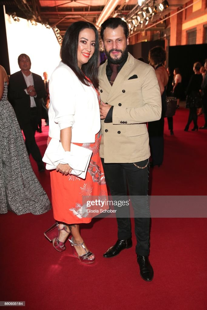 Manuel Cortez and his wife Miyabi Kawai during the 'Tribute To Bambi' gala at Station on October 5, 2017 in Berlin, Germany.