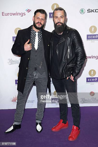 Manuel Cortez and Tobias Bojko attend the Echo Award 2016 on April 07 2016 in Berlin Germany