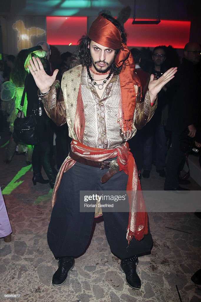 Manuel Cortez as pirat attends the 'Zweiohrkueken Gold-Kostuemparty' at China Loung on February 10, 2010 in Berlin, Germany.