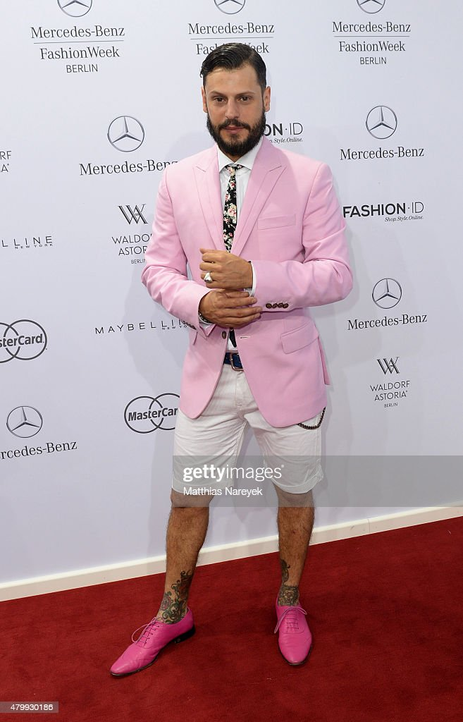 Manuel Cortez attends the Guido Maria Kretschmer show during the Mercedes-Benz Fashion Week Berlin Spring/Summer 2016 at Brandenburg Gate on July 8, 2015 in Berlin, Germany.