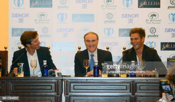 Manuel Diaz 'El Cordobes' and Julio Benitez present the bullfighting tribute to their father Manuel Benitez 'El Cordobes' on March 30 2017 in Palma...