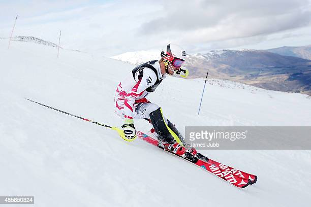 Manuel Feller of Austria competes in the Alpine Slalom FIS Australia New Zealand Cup during the Winter Games NZ at Coronet Peak on August 29 2015 in...