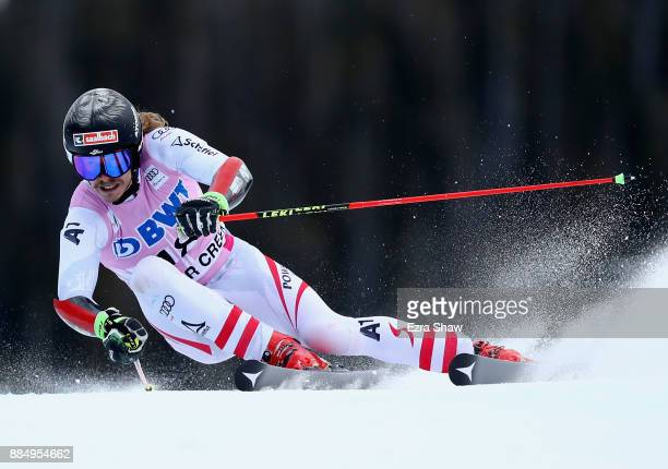 Manuel Feller of Austria competes in the second run of the Birds of Prey World Cup Giant Slalom race on December 3 2017 in Beaver Creek Colorado