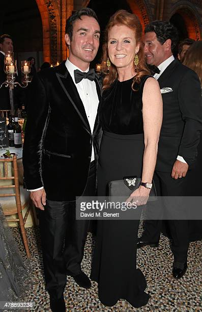 Manuel Fernandez and Sarah Ferguson Duchess of York attends the 2015 FIA Formula E Visa London ePrix Gala Dinner at the Natural History Museum on...