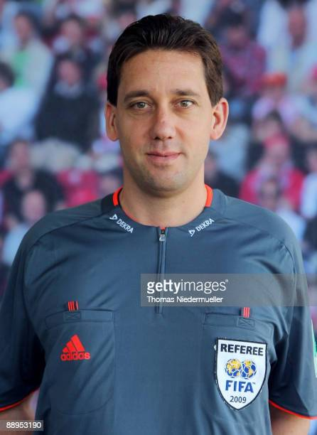 Manuel Graefe poses during the German Football Association referee meeting on July 9 2009 in Altensteig Germany