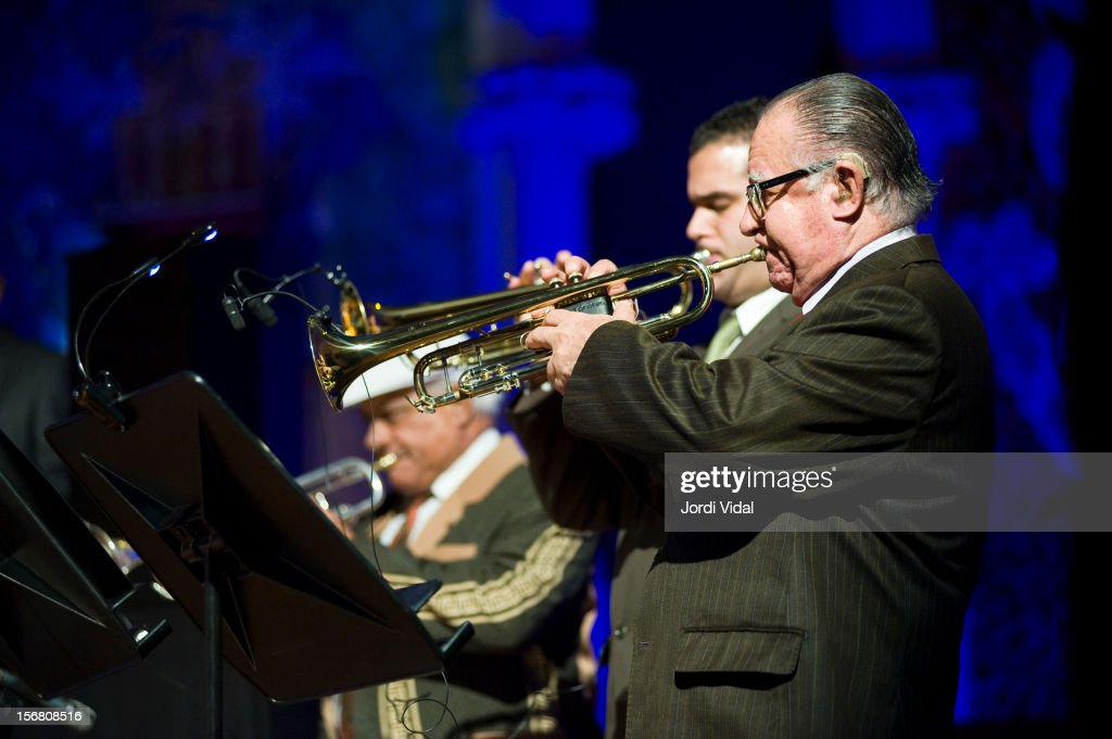 Manuel Guajiro Mirabal of Orquesta Buena Vista Social Club performs on stage during Voll-Damm Festival Internacional de Jazz de Barcelona at Palau De La Musica on November 21, 2012 in Barcelona, Spain.