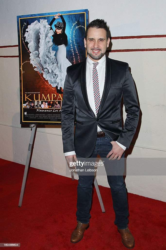 Manuel Gutierrez attends the 'Kumpania: Flamenco Los Angeles' - Los Angeles Premiere - Arrivals at El Cid on January 31, 2013 in Los Angeles, California.