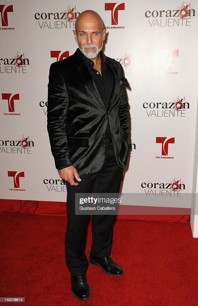 Manuel Landeta attends Telemundo's Corazon Valiente Red Carpet Premiere at Fontainebleau Miami Beach on February 29, 2012 in Miami Beach, Florida.