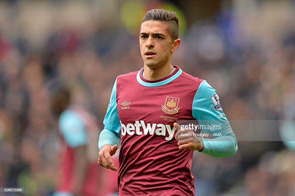 Manuel Lanzini of West Ham United looks on during the Barclays Premier League match between West Bromwich Albion and West Ham United at The Hawthorns on April 30, 2016 in West Bromwich, United Kingdom.