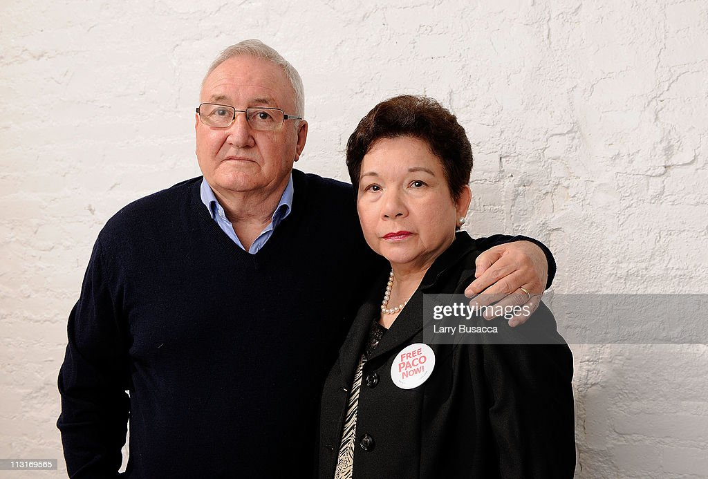Manuel Larranaga and Margot Larranaga visit the Tribeca Film Festival 2011 portrait studio on April 25, 2011 in New York City.