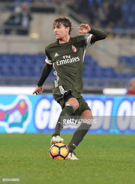Manuel Locatelli during the Italian Serie A football match between SS Lazio and AC Milan at the Olympic Stadium in Rome on february 13 2017