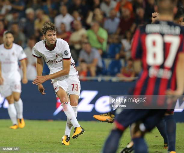Manuel Locatelli during the Serie A match between FC Crotone and AC Milan on August 20 2017 in Crotone Italy